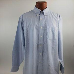 L.L.Beans Shirt Size 17 Long Sleeve Button Front
